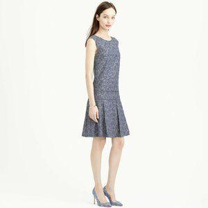 J.Crew Drop-Waist Block Print Shift Dress